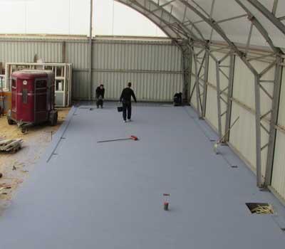 Coating systems trowel floor