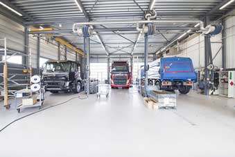 Coatingvloer Volvo trucks