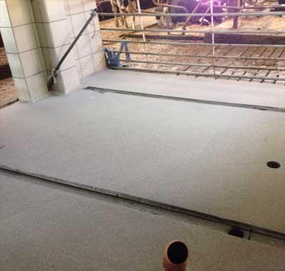 Cementgebonden vloer agrarisch