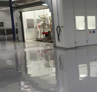 Epoxy gietvloer garage
