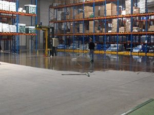 Coated floors for the warehouse