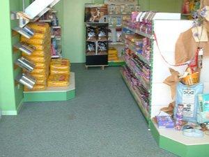 Coated floors for the retail trade
