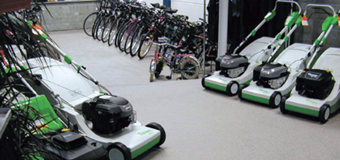 Coatings voor de winkelruimte zoals fietsenwinkel