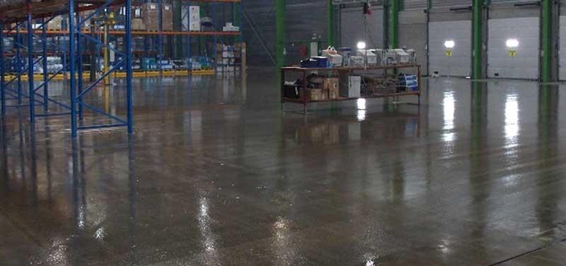 Industrial floors for warehouses