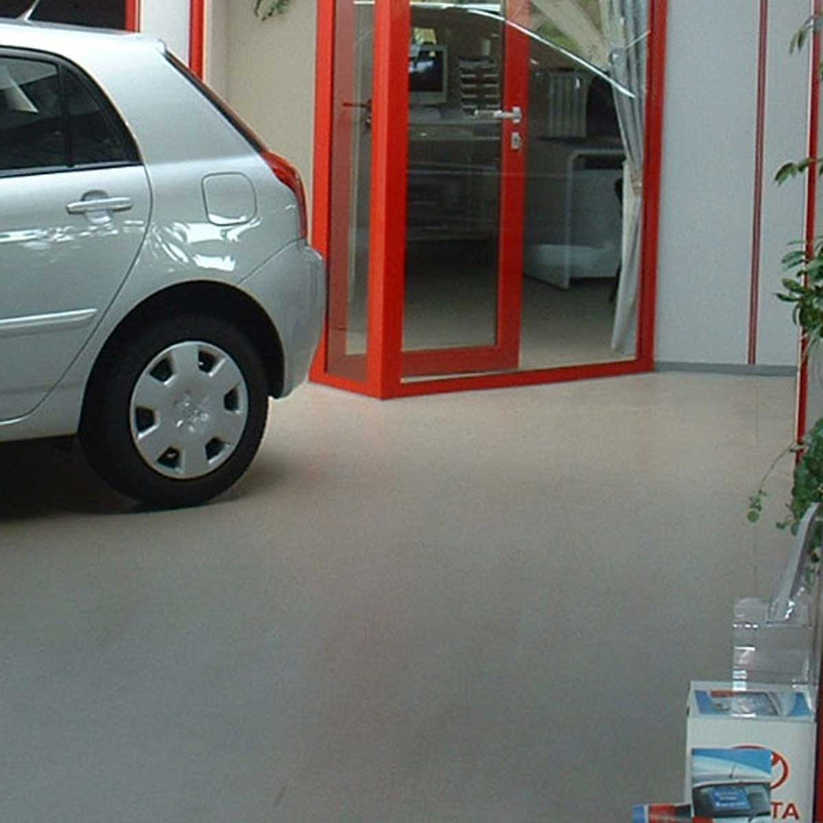 Coated floors for the Showroom