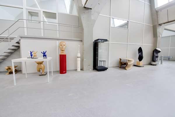 Troffelvloer in een productieruimte