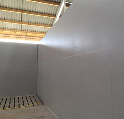 Acrylic wall coating in an agricultural company