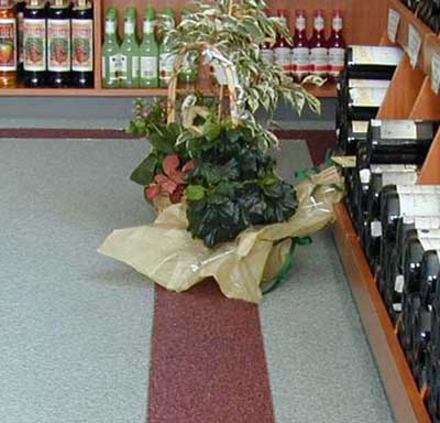 Quartz carpet floors in a wine shop