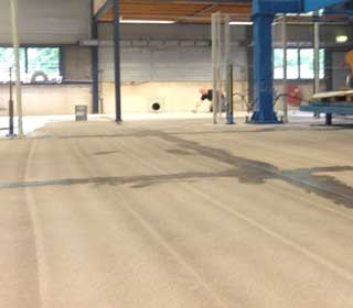 Apply industrial floor