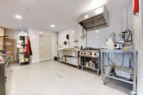 restaurant vloer keuken
