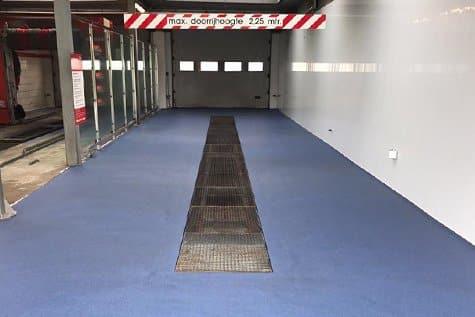 Wasstraat vloercoating