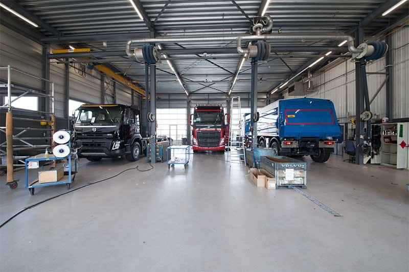 Beschichtungsboden Volvo Trucks